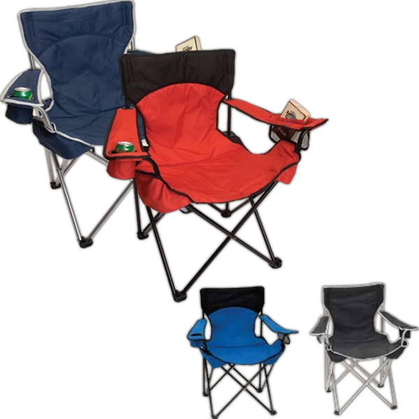 Folding Camp Chair. 600d Polyester. Full Length Back Pocket Photo