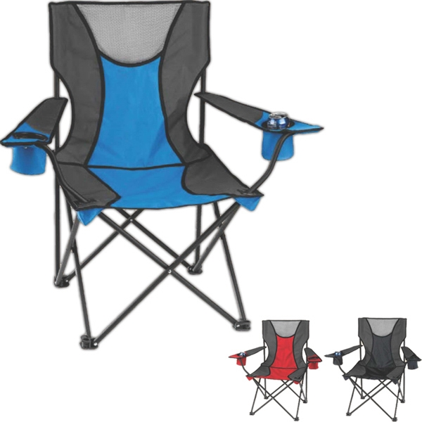 Signature - Folding Camp Chair Made Of Rip-stop Polyester And 600d Fabric. Includes Carry Bag Photo