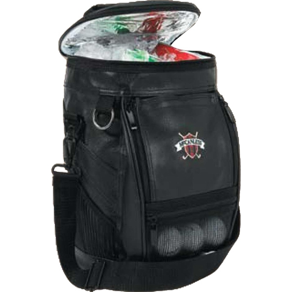 Soft Imitation Leather Golf Bag Cooler Holds Up To Eight Cans Plus Ice Photo