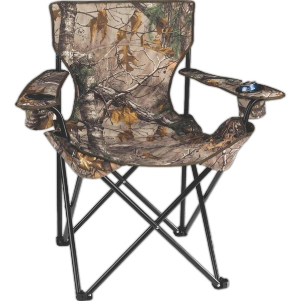 "Realtree  X Tra (r) - Camouflage Folding Camp Chair Made Of 600d Polyester. Seat Height 18"" Photo"
