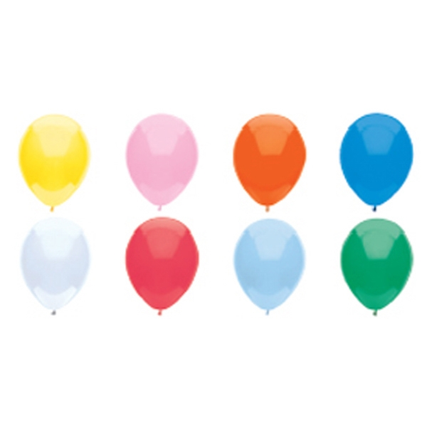 "Adrite (tm) - 9"" - 9"" Or 11"" Round Economy Latex Balloon In Basic Colors Photo"
