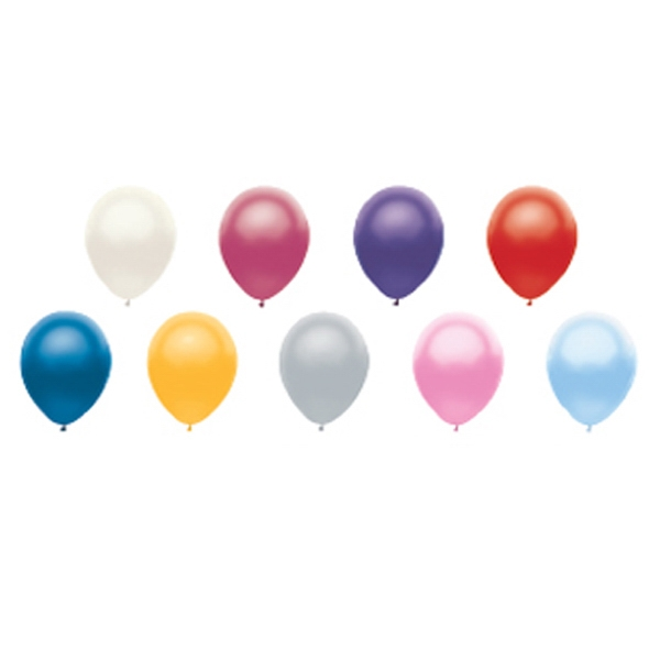 "Adrite (tm) - 9"" - Economy Latex Balloon In Metallic Colors Photo"