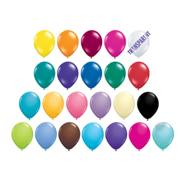 "Qualatex (r) - 9""jewel And Fashion Colors Round Latex Balloon Photo"