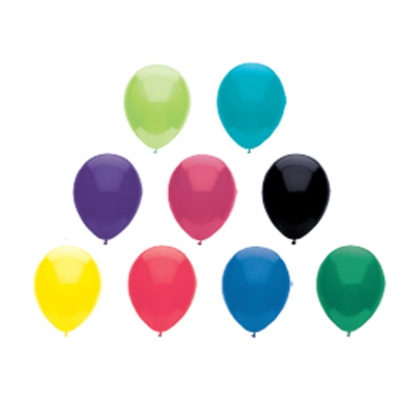"9"" - Low Cost Imported Latex Balloon In Crystal/fun Colors Photo"
