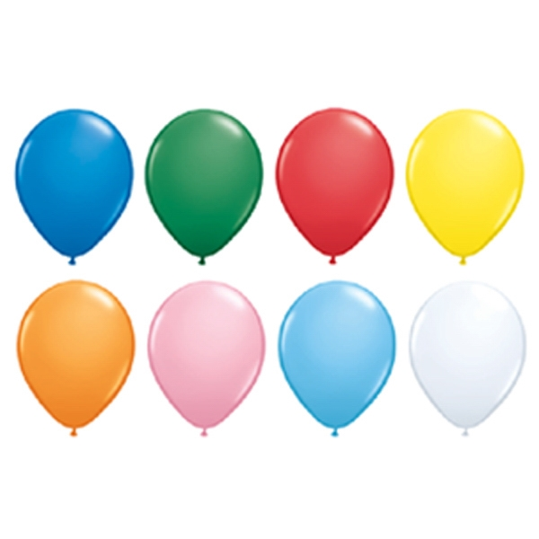 "Qualatex (r) - 11"" - Standard Colors Round Latex Balloon Photo"