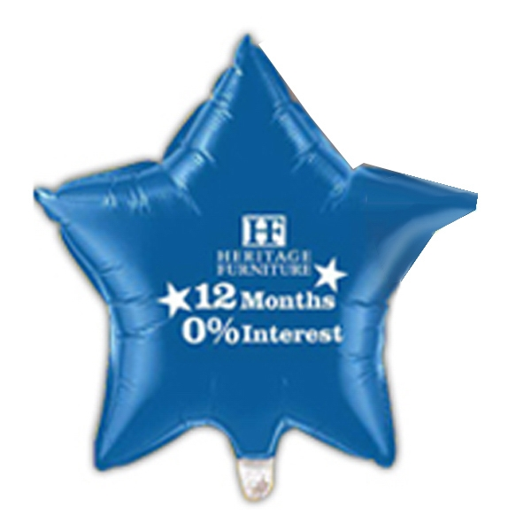 "Qualatex (r) - 1 Color - Small Quantity Star Shape Self Sealing Microfoil (r) Balloon, 20"" Photo"