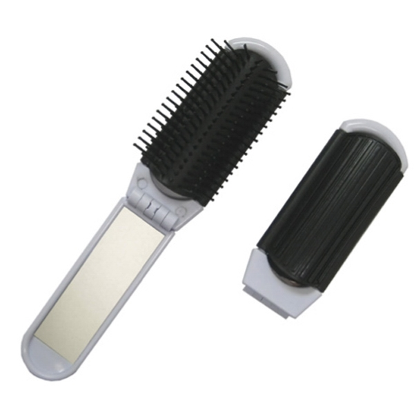 Folding Brush And Mirror