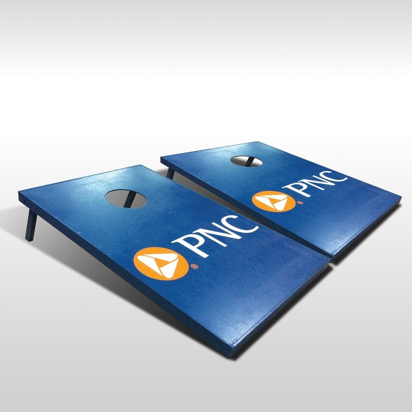 Tailgate Cornhole Set with 4 color process logo