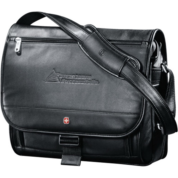 Wenger (r) Executive - Genuine Top Grain Leather Leather Computer Saddle Bag Photo