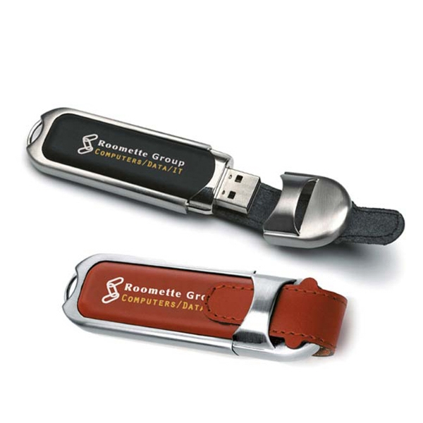 Leather Buckle USB 2.0 Flash Drive