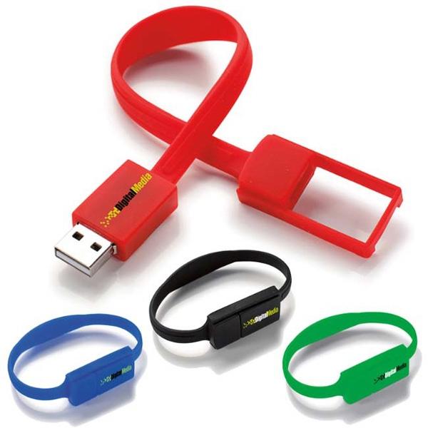 Slim Bracelet USB 2.0 Flash Drive