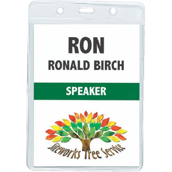 Vertical Badge - Clear Badge Holder Photo