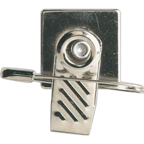 Safety Pin And Swivel Clip For Badge Photo