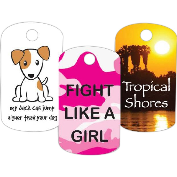 "1"" X 2 1/2"" - Full Color Plastic Dog Tag Photo"