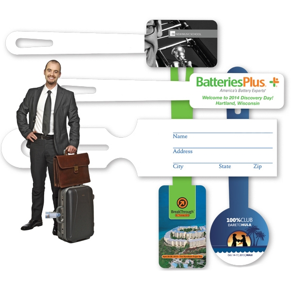 "1 1/2"" X 4"" - All-in-one Luggage Tag Photo"
