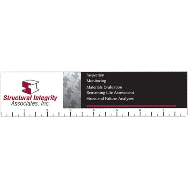 "Rectangular Square Corners - Full Color Ruler, .020"" Thick Photo"