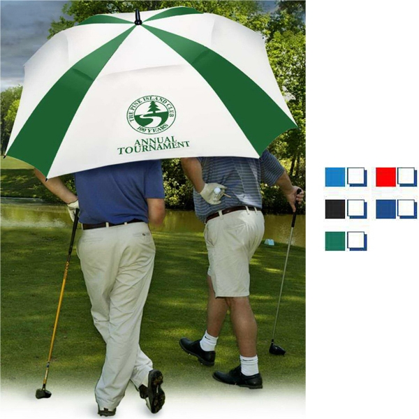 "Square Deal (tm) - Umbrella With 62"" Canopy Arc, Vented Canopy, Color Matched Handles Photo"