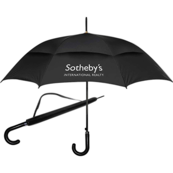 "High Fashion (tm) - Umbrella With Classic Curved Handle, And 48"" Canopy Arc. Auto Opening Photo"