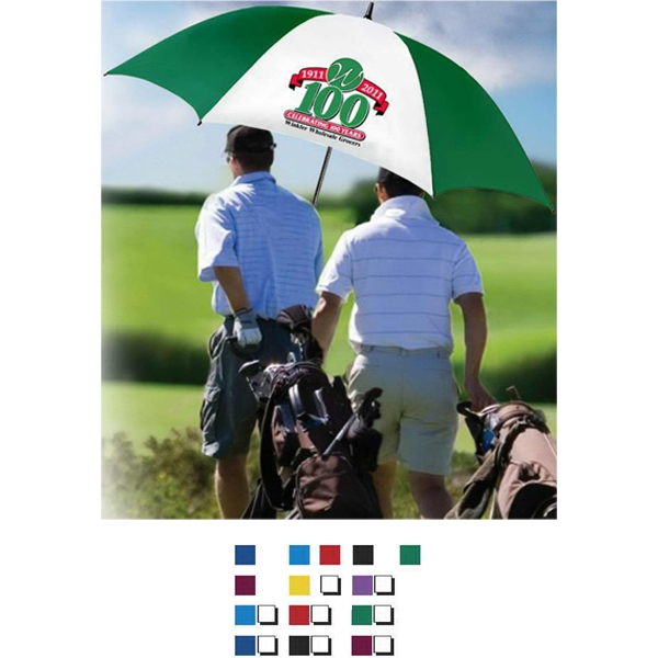 "Hole-in-one (tm) - Umbrella With 62"" Canopy Arc, Lightning And Wind Resistant Photo"