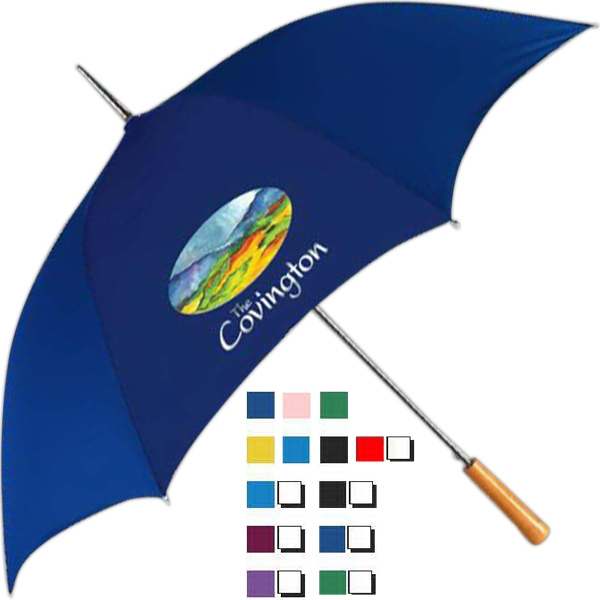 "Universal Fashion (tm) - Umbrella With 48"" Canopy Arc And Pushbutton Automatic Opening Photo"