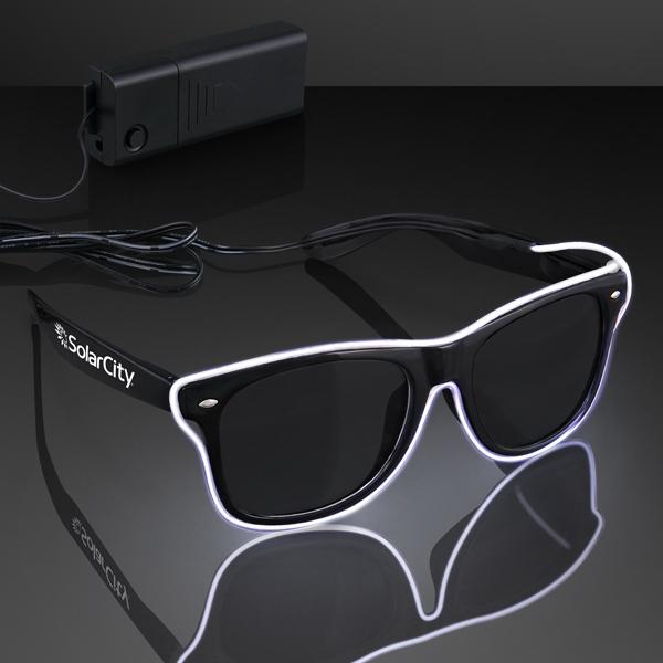 Light Up EL Wire White Neon Sunglasses