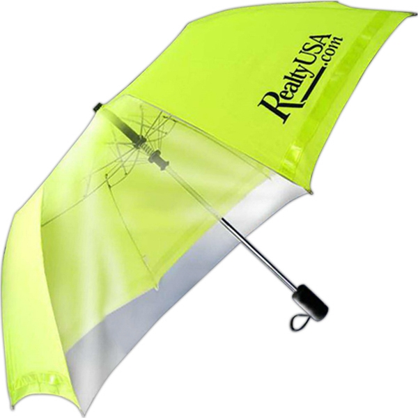 "Safety Umbrella (tm) - Umbrella With Extra Large 46"" Arc, Safety Yellow Canopy Photo"