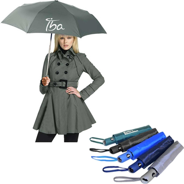 "Mighty Mite (tm) - Folding Umbrella With Generous 42"" Canopy Arc Photo"