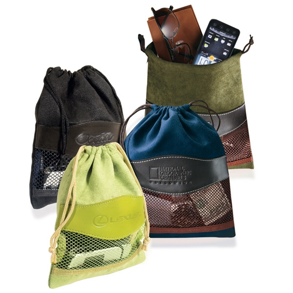 Woodbury Leeman New York Collection - Microfiber And Simulated Leather Valuables Pouch Photo