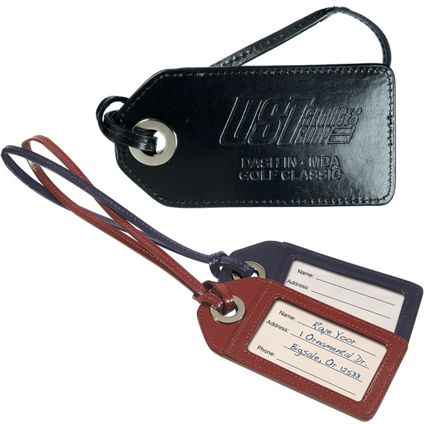 Webster Leeman New York Collection - Grommet Cowhide Travel Styling Luggage Tag Photo