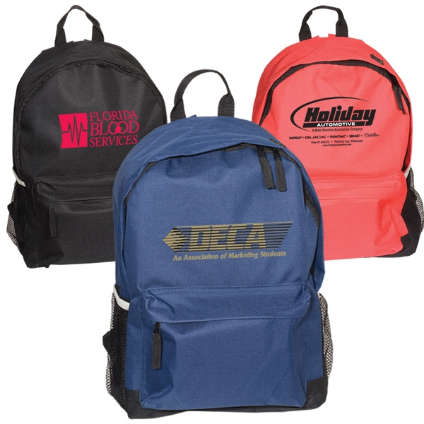 Dean's List - 600 Denier Polyester Backpack With Dual Zippered Main Compartment. Closeout Photo
