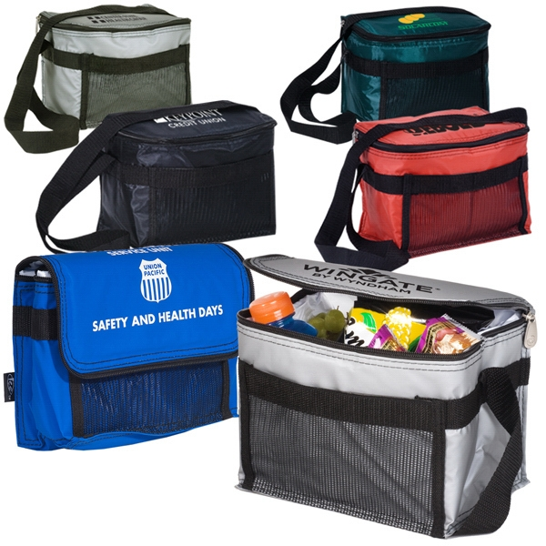 Ice (r) - Polyester 70 Denier Insulated Cooler Bag With Zipper Top With Web Strap Photo