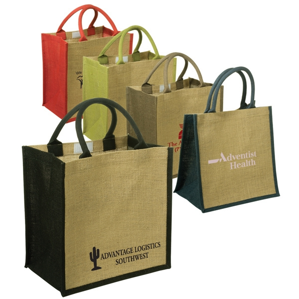Eco-responsible (tm) Junior - Jute Tote With Velcro Closure Photo