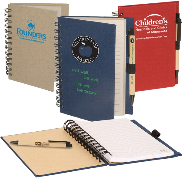 Eco-responsible (tm) Earth Saver - Combination Eco-green Paper Barrel Pen Paired With Earth Safe Journal Book Photo