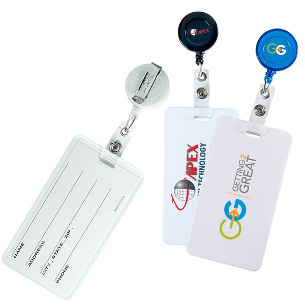 Retract-a-badge Hi-flyer - Round Badge And Luggage Tag Combo Photo
