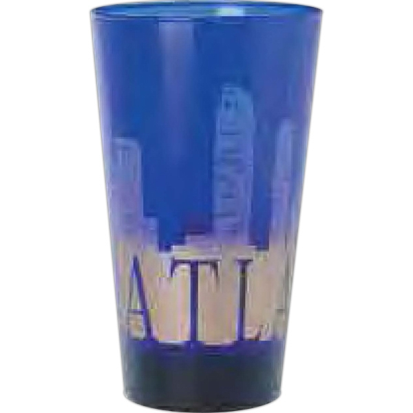 Blue glass pint