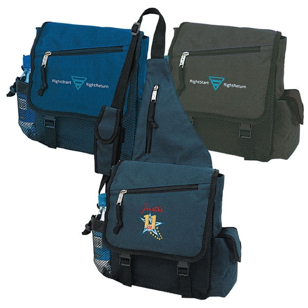 Slingshot - Polyester Sling Pack With Quick Release Buckles On Strap And Side Mesh Pocket Photo