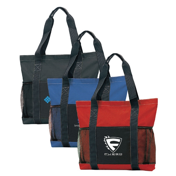 "18"" Tote With Velcro Closure, And Mesh Pockets Photo"