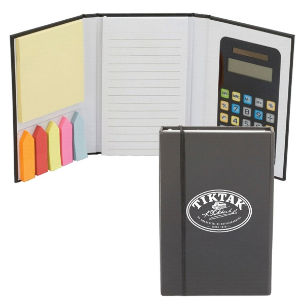 Calculator Jotter With Sticky Notes Photo