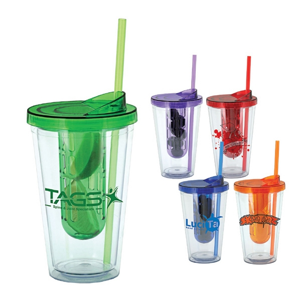 Rhapsody - Bpa Free, 16 Oz Acrylic Tumbler And Fruit Cage (fruit Not Included) Photo
