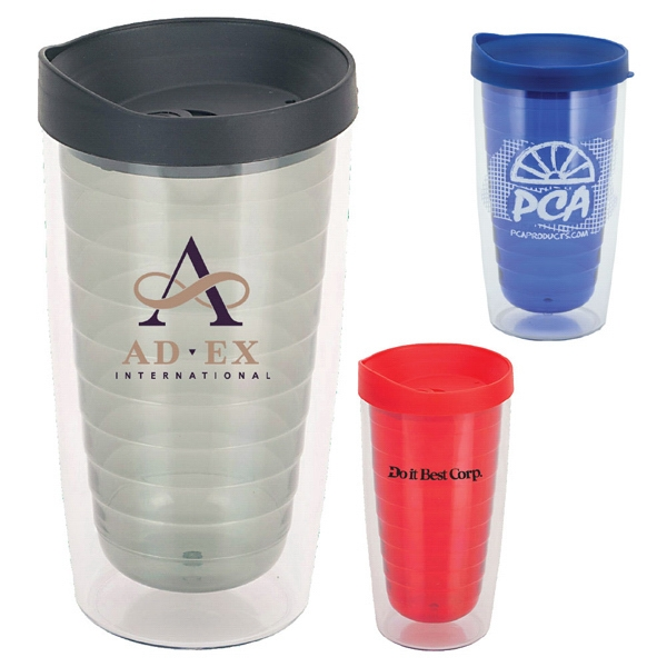 Trevivid - 16 Oz Double Wall Acrylic Tumbler Includes A Pop-off Sipper Lid Photo