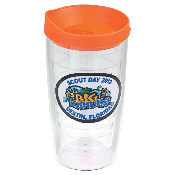 16 Oz. Tumbler With The 3d Effect Logo Boldly Displayed As An Embroidered Patch Photo