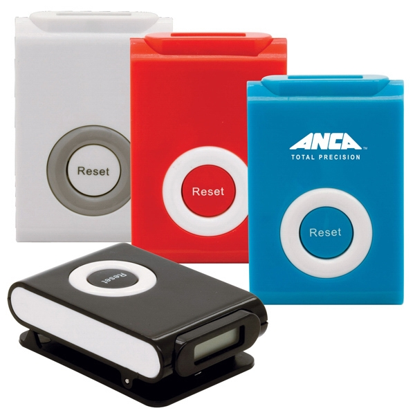 "Clip ""n"" Go Pedometer With Classic Two-tone Appeal. Cell Batteries Included Photo"