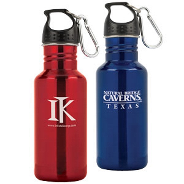 Clutch - Stainless Steel 16.9 Oz Sports Bottle With Screw-on Top And Carabiner Clip Photo