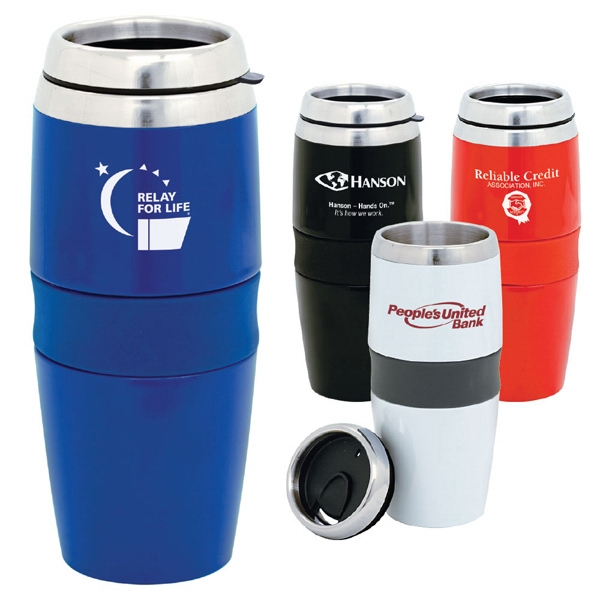 Magnum (r) - Stainless Steel - 16 Oz. Stainless Steel Tumbler With Steel Liner Inside Acrylic Exterior Photo
