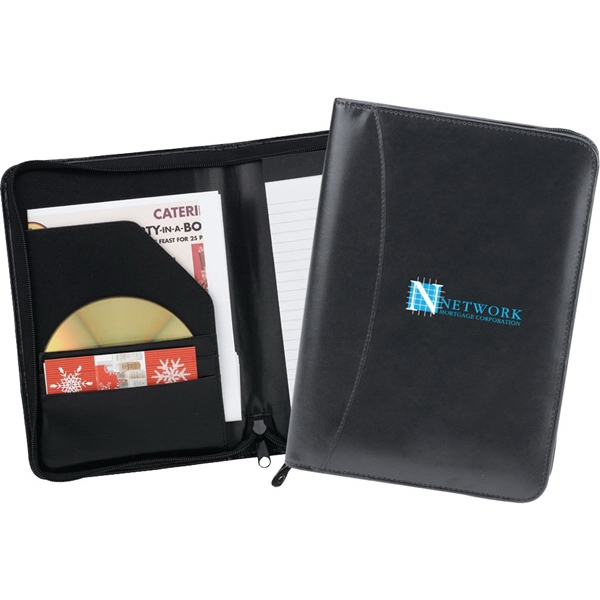 Serenity - Junior Zipper Portfolio Made Of Simulated Leather With Inside Organizer Photo