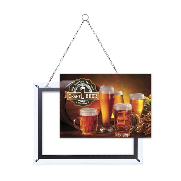 14-inch x 20-inch Crystal Edge Light Box Graphic Only