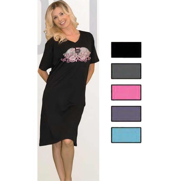 Ladies Garment-Dyed Night Shirt