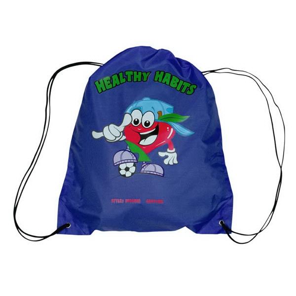 Drawstring Backpack with Digital Imprint - Drawstring Backpack with Digital Imprint
