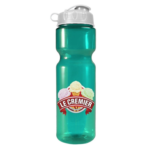 28 oz Transparent Sports Bottle - 28 oz Transparent Sports Bottle with flip lid.