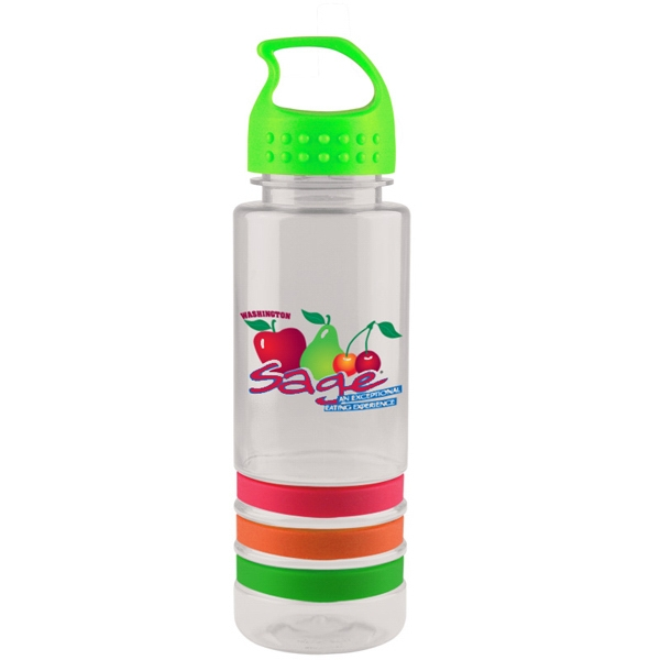 24 oz. Sergeant Stripe Bottle - 24 oz. premium heavy-wall sports bottle with crest lid and grip.